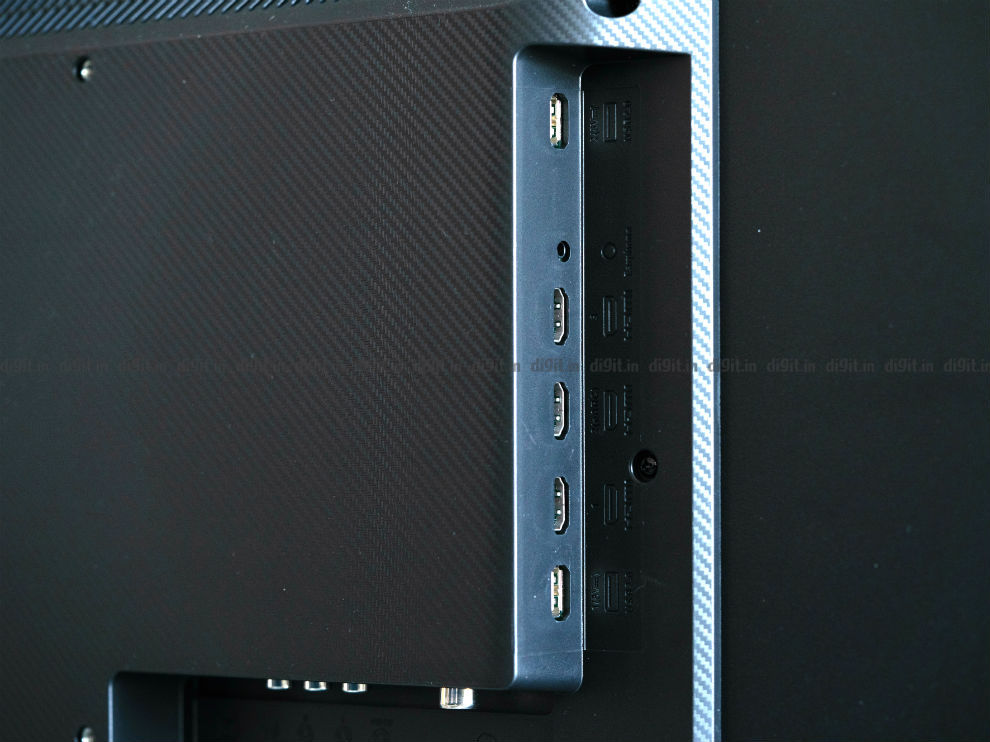 The Mi QLED TV 4K has 3 HDMI ports and 2 USB ports.