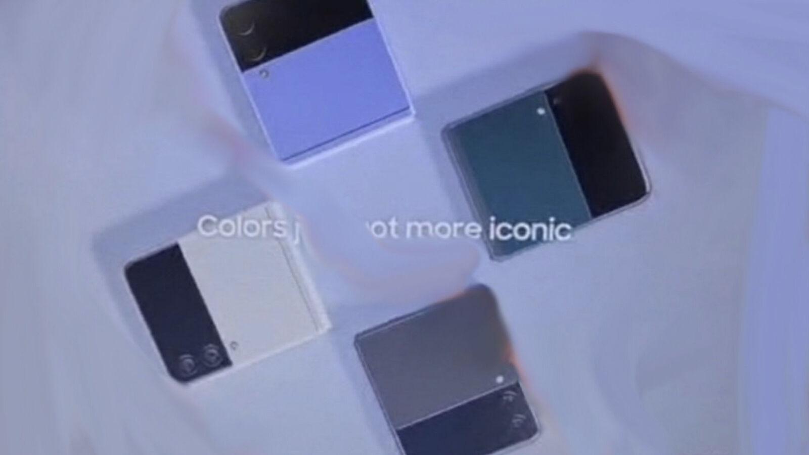 Galaxy Z Flip 3 colores de fuga |  Universo de hielo