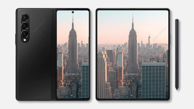 Ben Geskin Galaxy Z Fold 3 render
