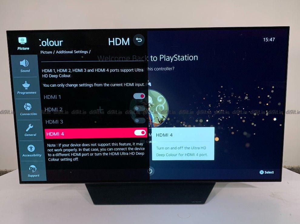 LG CX es compatible con HDMI Ultra HD Deep Color.