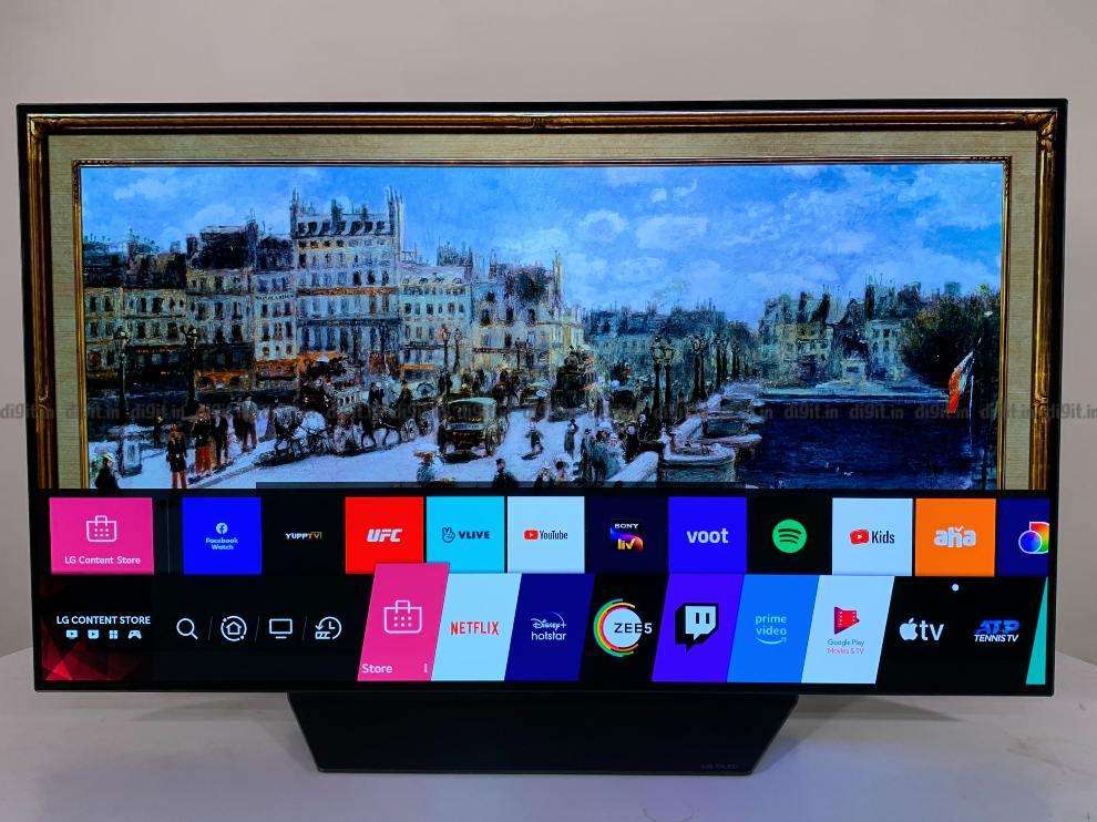 El televisor LG funciona con WebOS.
