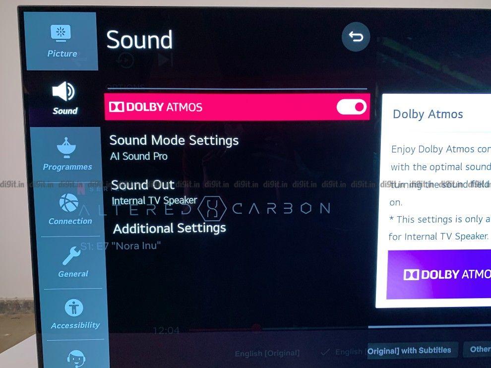 el LG CX es compatible con Dolby Atmos.