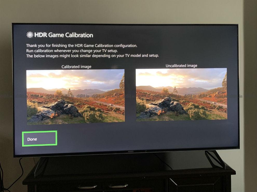 Calibración HDR en el Sony X90H usando Xbox One X.