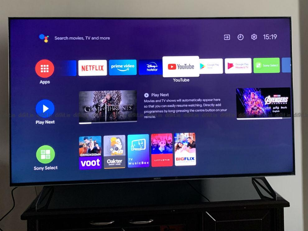 El Sony X90H se ejecuta en la interfaz de usuario de Android TV.