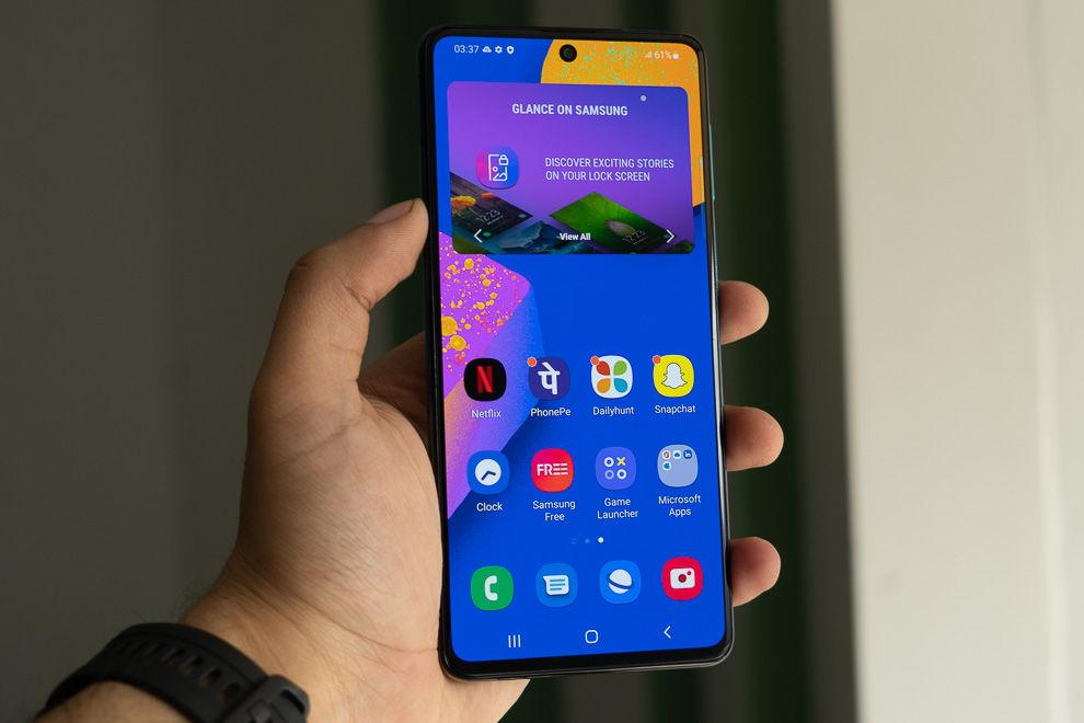 El Samsung Galaxy F62 cuenta con una pantalla super AMOLED de 6.7 pulgadas, pero sin certificación HDR