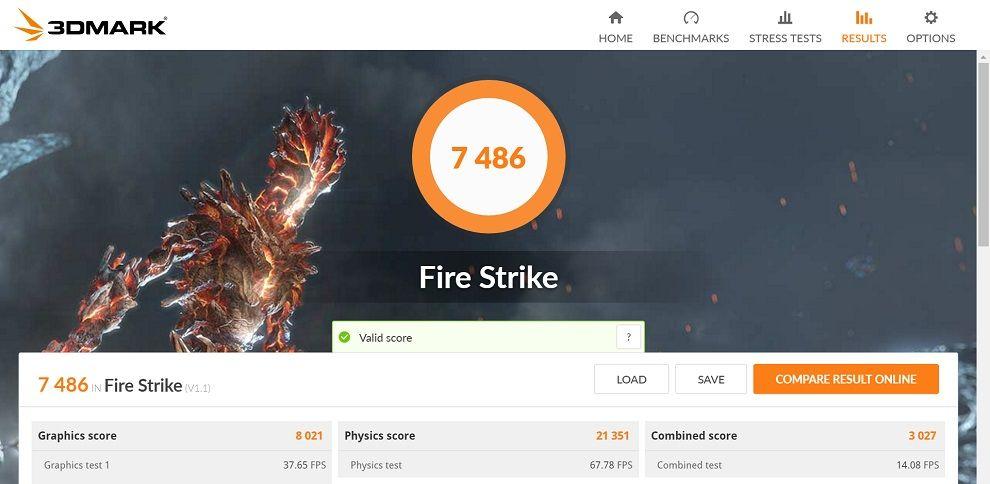 3DMark Firestrike ROG Flow x13