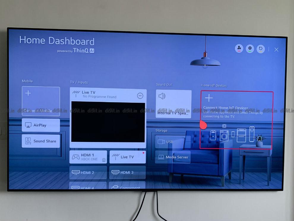 Puede controlar los dispositivos domésticos inteligentes con el LG GX.