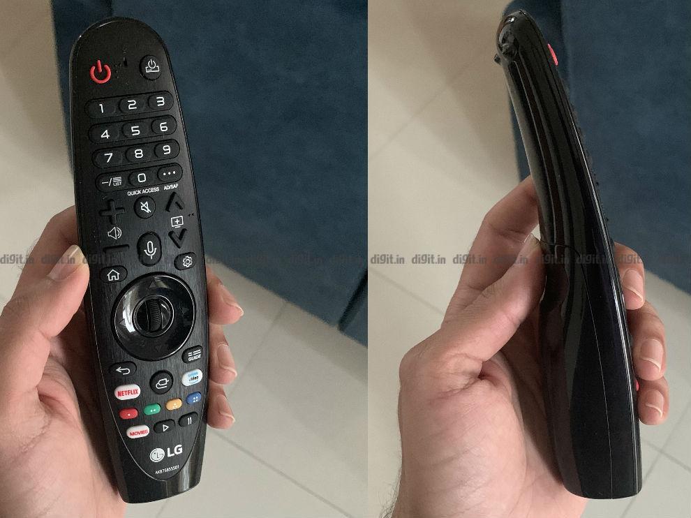 El LG GX tiene el mismo control remoto que el LG C9 del año pasado.