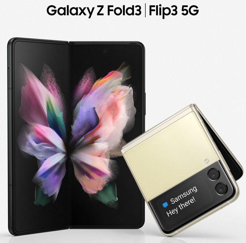 Samsung Galaxy Z Flip 3 y Fold 3