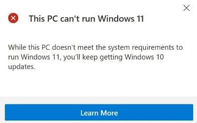 Comprobación de compatibilidad con Windows 11