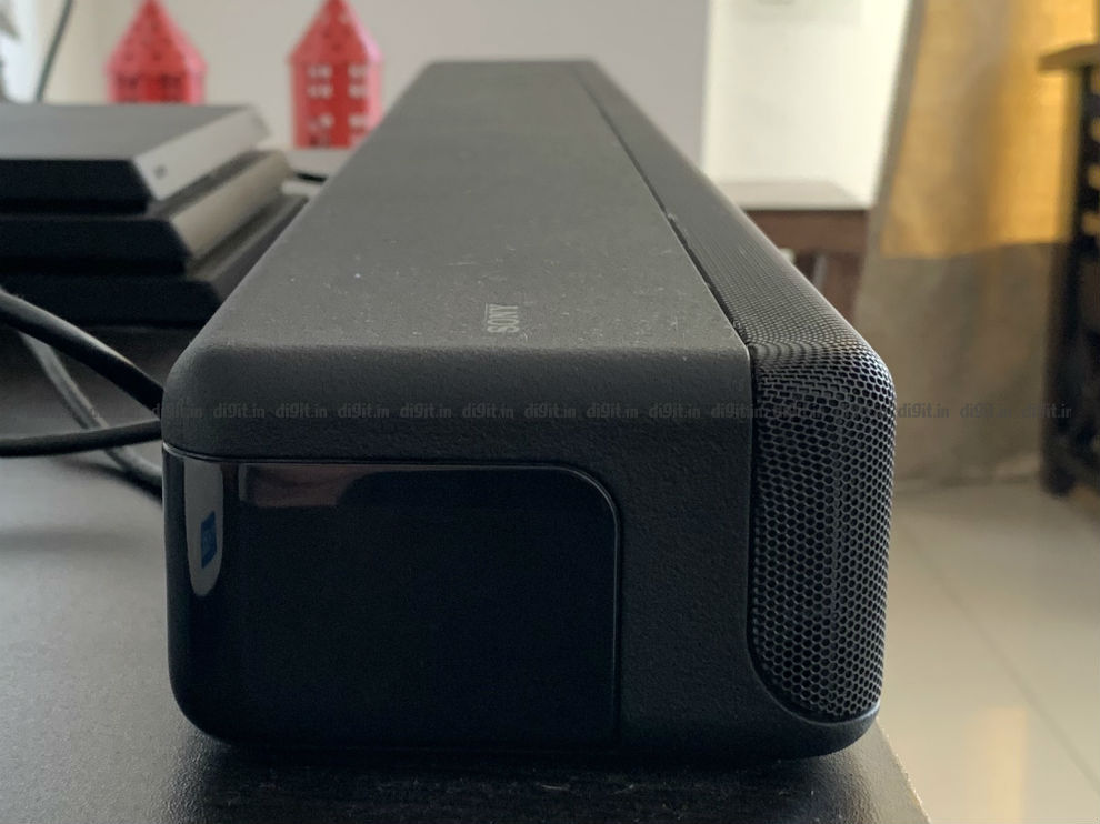 The Sony HT-G700 soundbar is thick and has heft to it