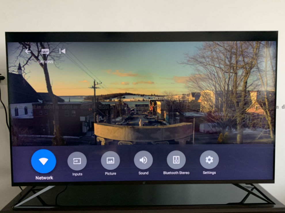 OnePlus U TV settings.