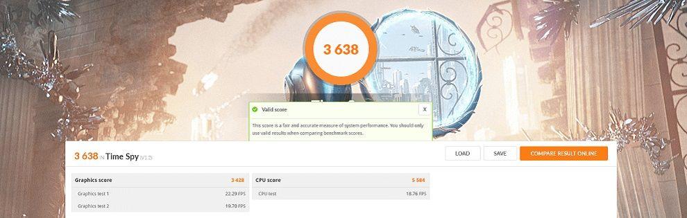 3DMark Benchmark Acer Aspire 7
