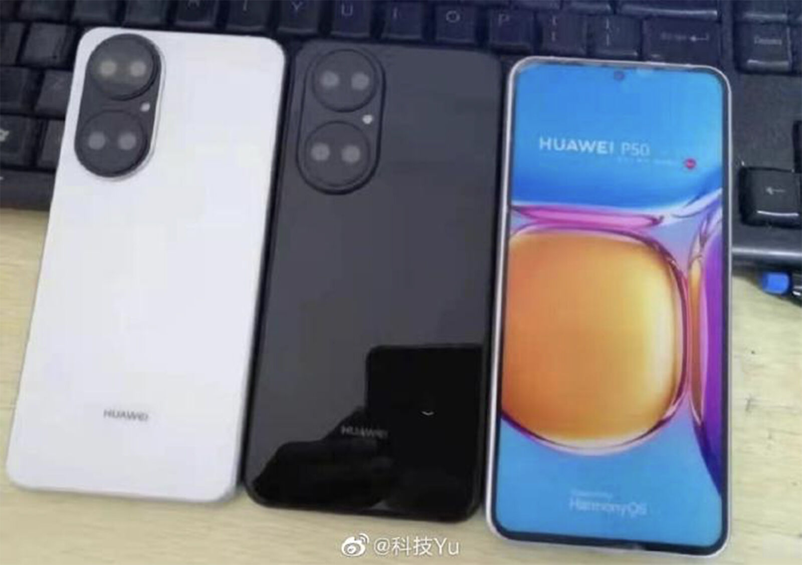 Huawei P50 spyshot | Source: Technology Yu via Weibo
