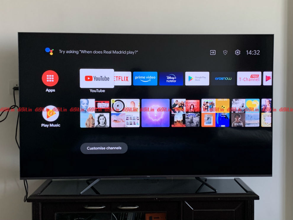 The TCL C715 runs on Android TV 9 out of the box.