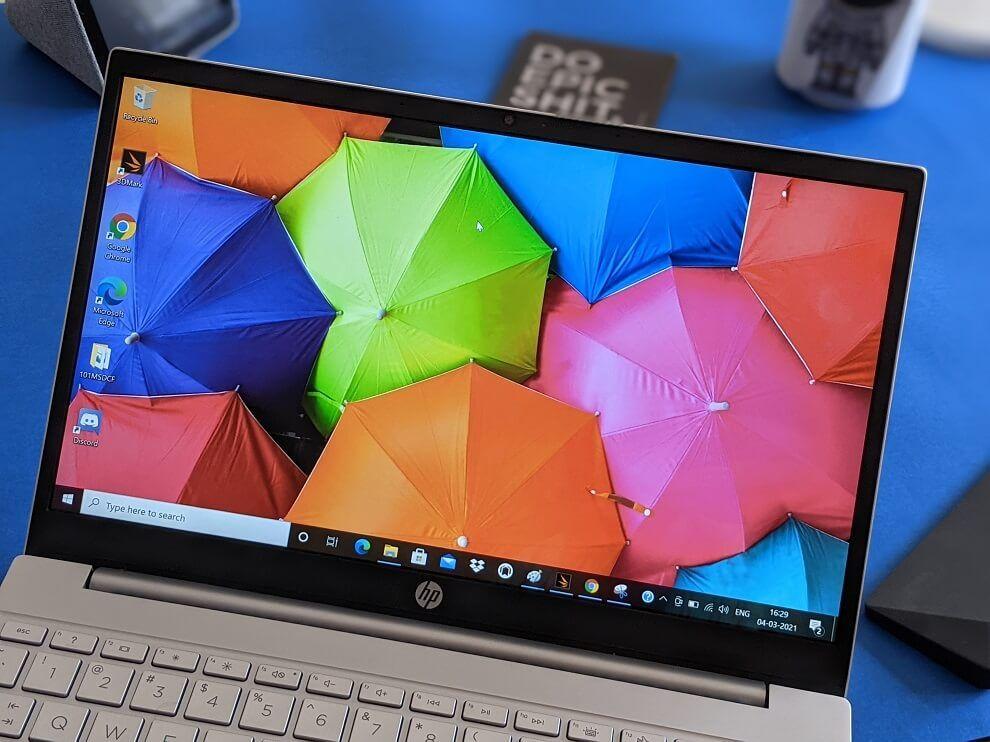 "HP Pavilion laptop 13 has a 13.3"" display."