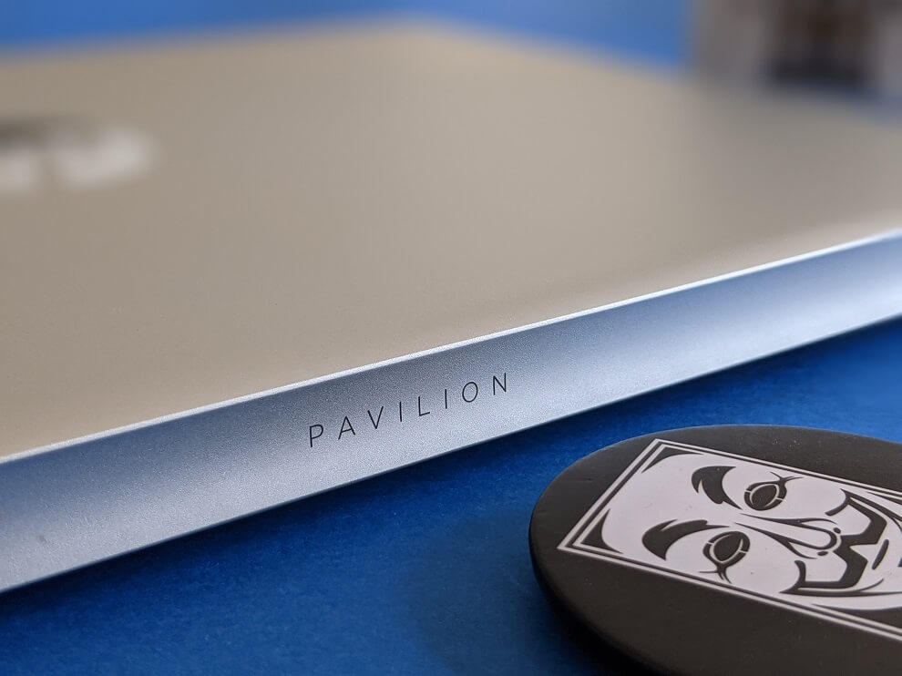 The laptop has a sleek design.