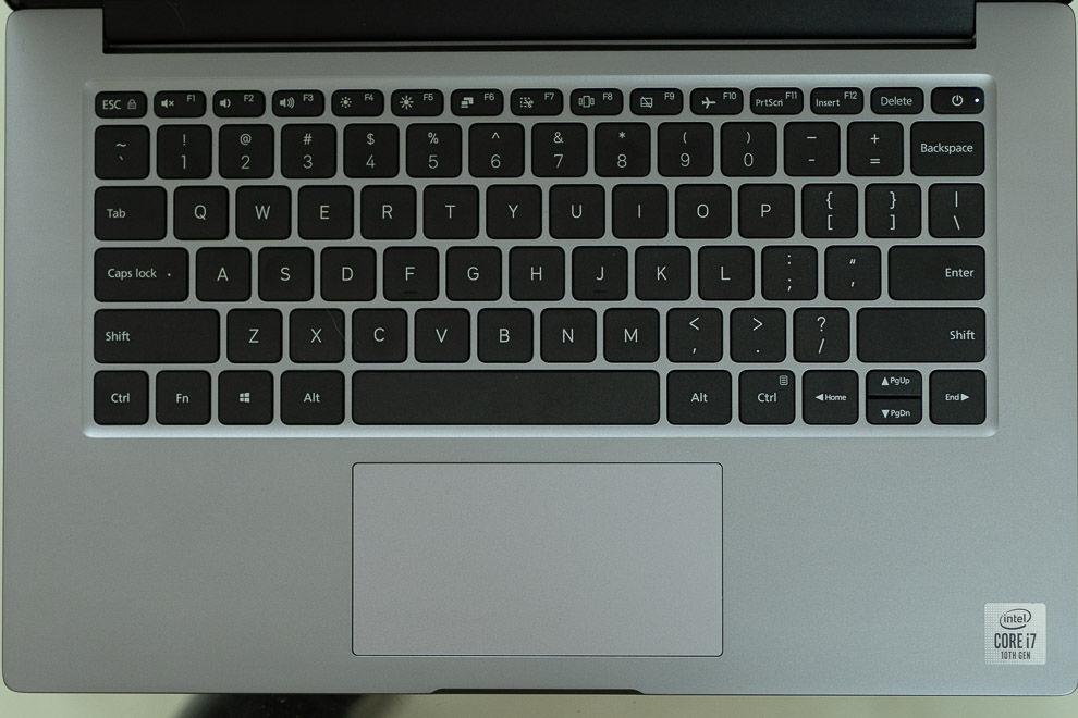 Teclado Xiaomi Mi NoteBook 14 Horizon Edition, rendimiento del trackpad