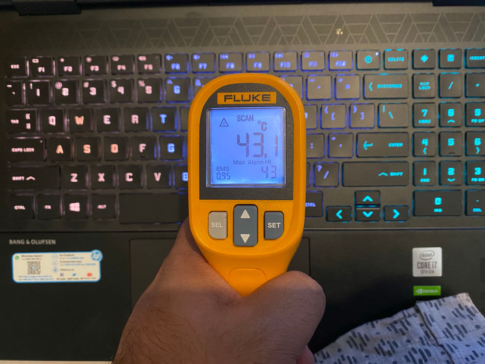 HP Omen 15 keyboard temperatures don't go too high