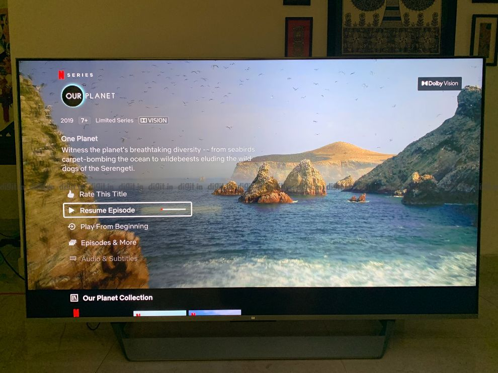 The Mi QLED TV supports Dolby Vision.