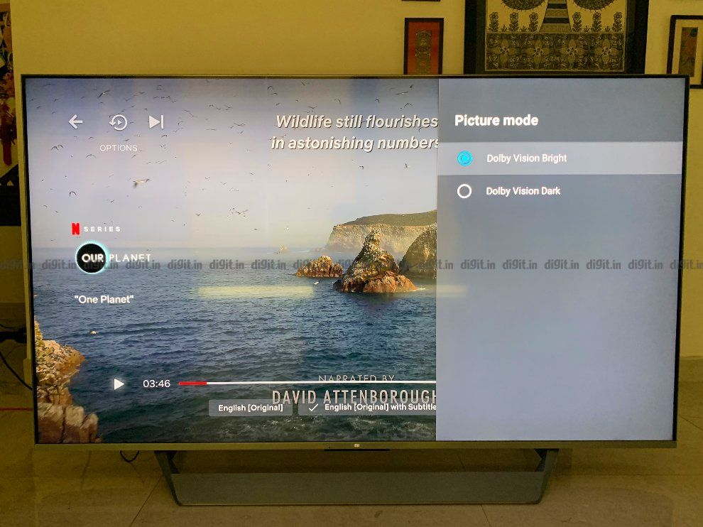 Dolby Vision settings on the. Mi QLED TV 75.