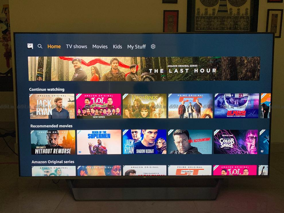 Prime Video supports HDR 10+ on the Mi QLED TV.