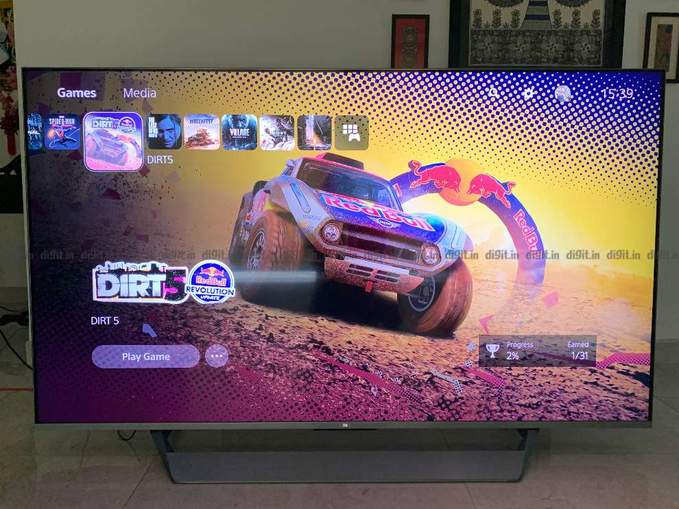 PS5 gaming on the Mi QLED TV.