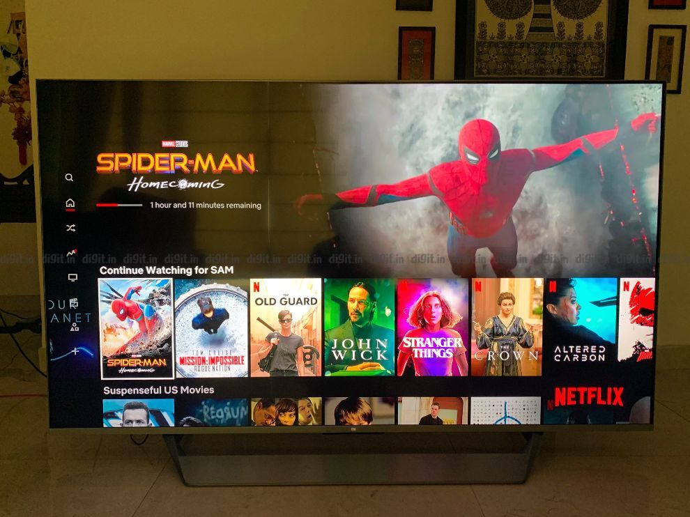 You can watch content on Netflix in Dolby Vision on the Mi QLED TV 75.