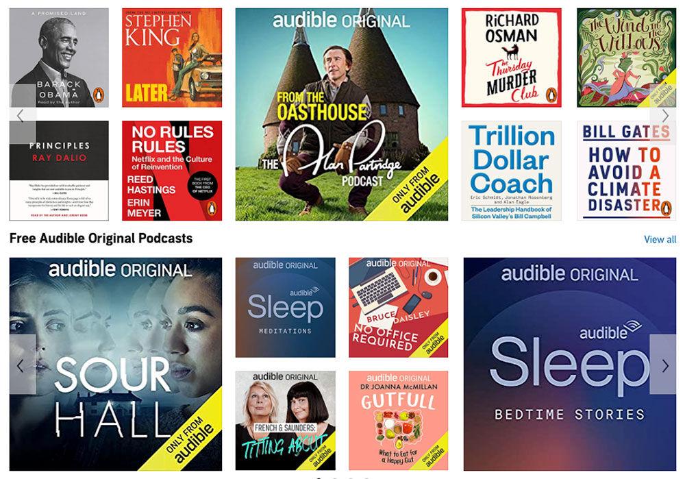 Libros y podcasts audibles