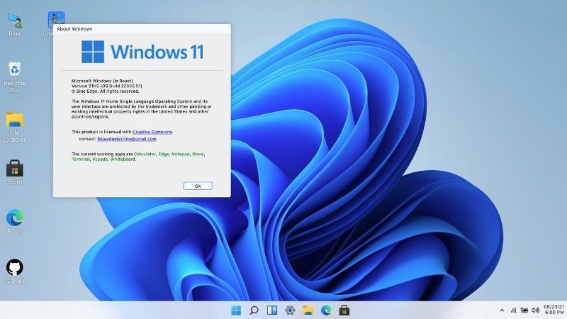 Windows 11 desde el navegador web