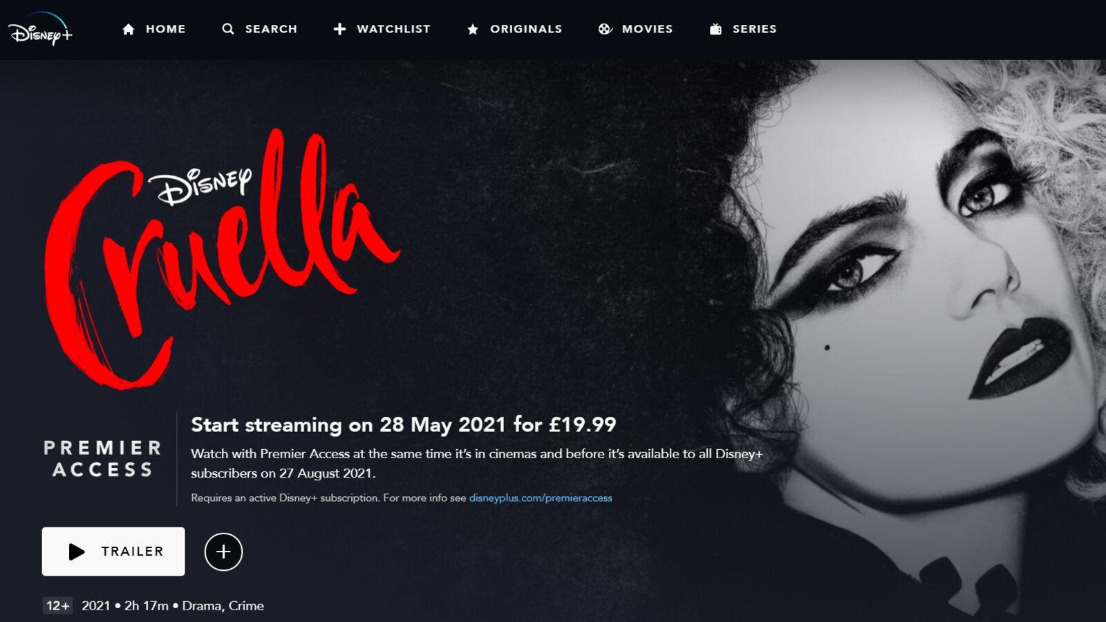 Cruella Disney Plus