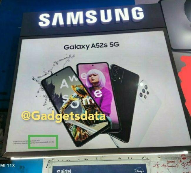 Especificaciones de lanzamiento de Samsung A52 5G India