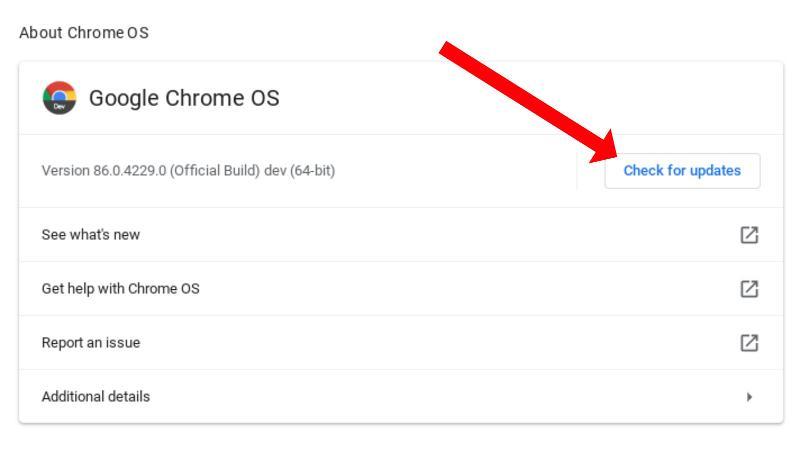 Cómo actualizar una Chromebook: actualización