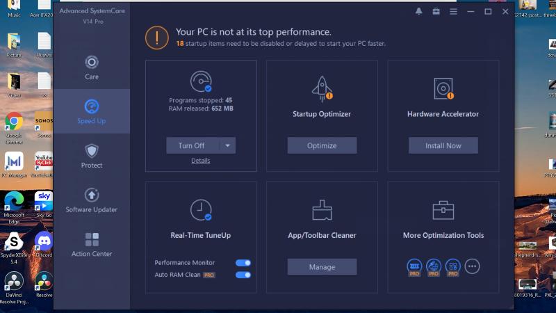 IObit Advanced SystemCare 14 Pro Aceleración