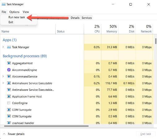Windows 11 corrige la barra de tareas que falta