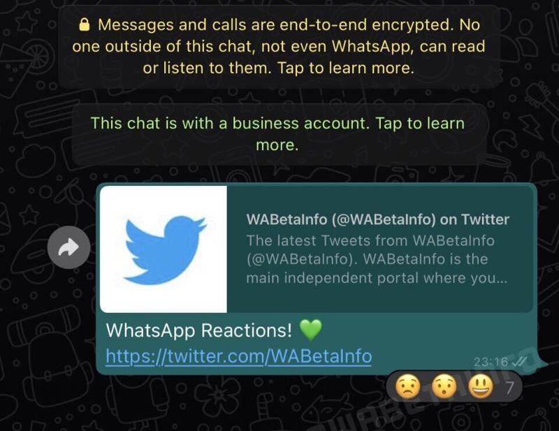 Se acercan las reacciones a los mensajes de WhatsApp